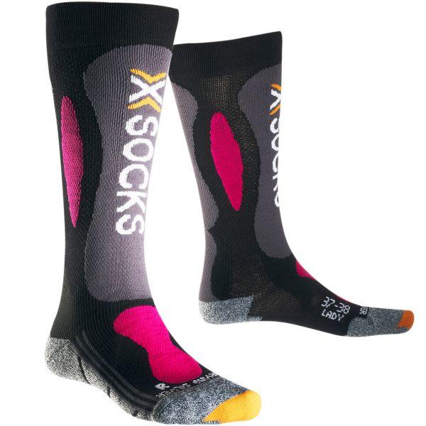 X-Socks Women Ski Carving silver black/violett