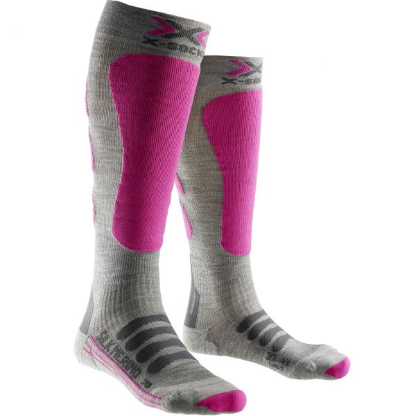 X-Socks Ladies Ski Silk Merino grey/fuchsia