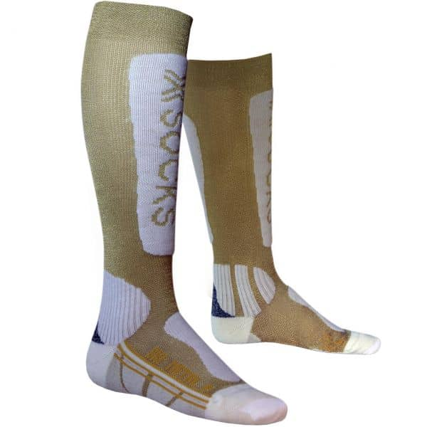 X-Socks Women Ski Metal gold/white