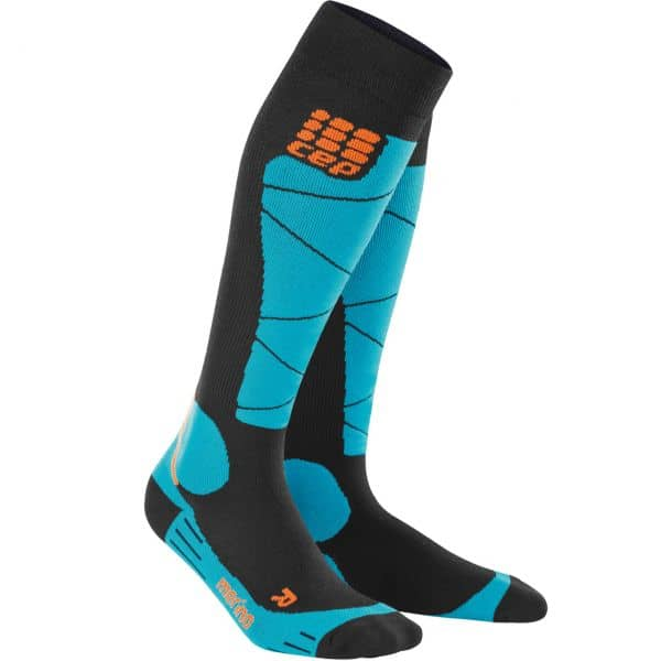 CEP Women Ski Socks Merino black/azure