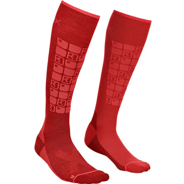 Ortovox Women Ski Compression Socks dark blood