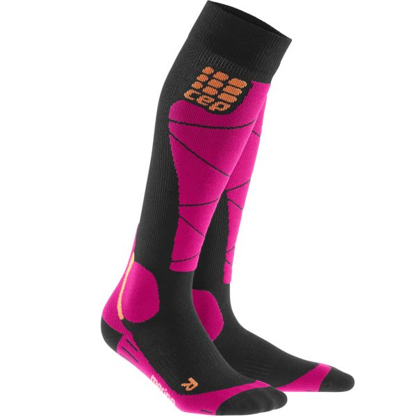 CEP Women Ski Socks Merino black/pink