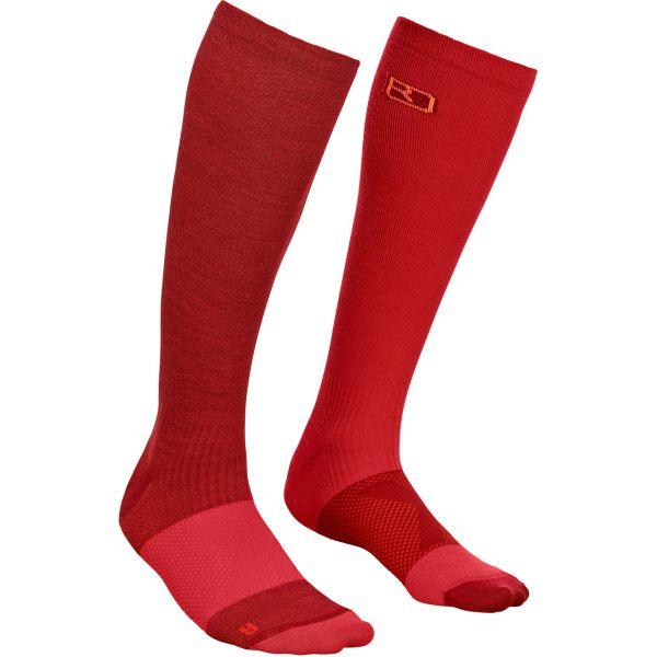 Ortovox Women Tour Compression Socks dark blood