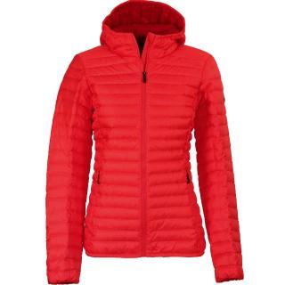 Kjus Ladies Cypress Hooded Down Jacket lipstick pink/purpur red