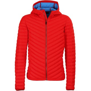 Kjus Men Blackcomb Hooded Down Jacket scarlet/malta blue